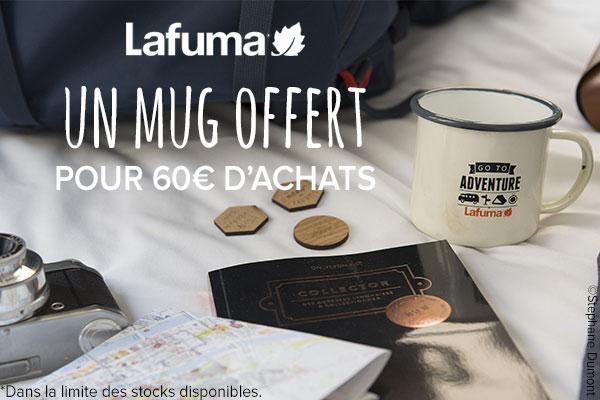 Un mug offert pour 60€ d'achats Lafuma