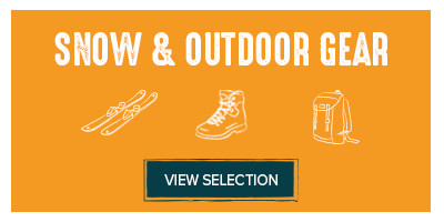 The Snow & Outdoor gear selection!