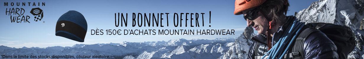 Un bonnet offert dès 150€ d'achats Mountain Hardwear !