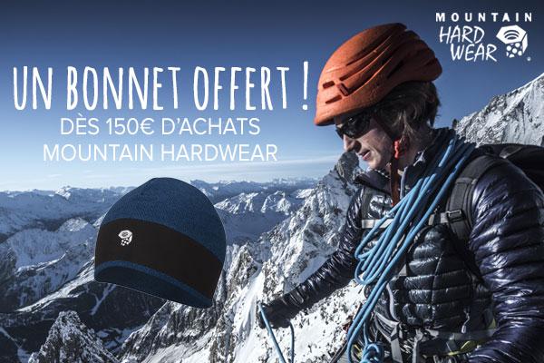 Bonnet Mountain Hardwear offert pour 150€ d'achats
