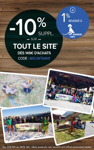-10 supp. dès 149€ d'achats + 1% reversé à Mountain riders !