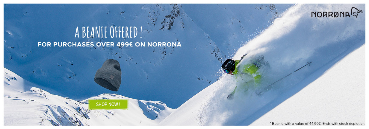 A beanie offered for purchases over 499£ on Norrona!