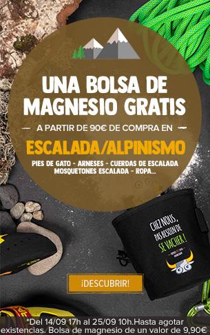 Una Bolsa de Magnesio gratis a partir de 90€ de compra en Escalada/Alpinismo