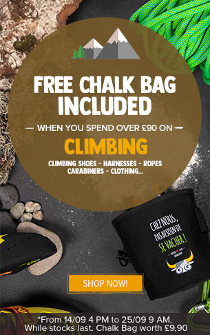 Free Chalk Bag Included when you spend over £90 on Climbing
