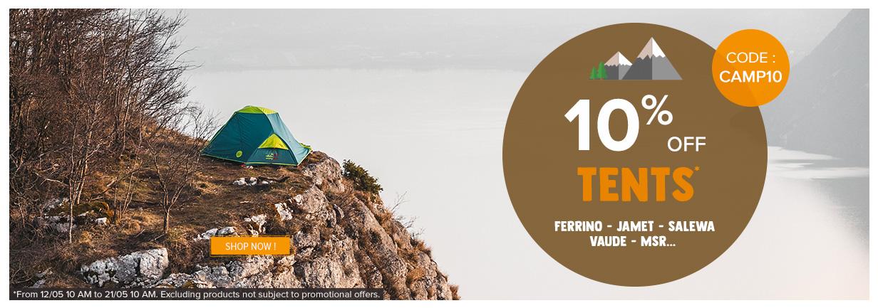 10% off tents!