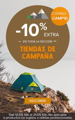-10% extra en los Tiendas de capana : Msr, Ferrino, Jamet