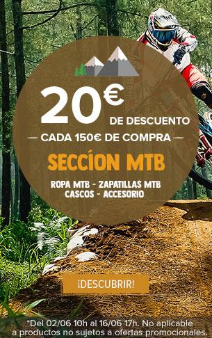 20€ de descuento cada 150€ de compra seccion MTB