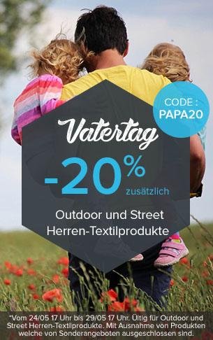 -20% zusätzlich Outdoor und Street Herren-Textilprodukte