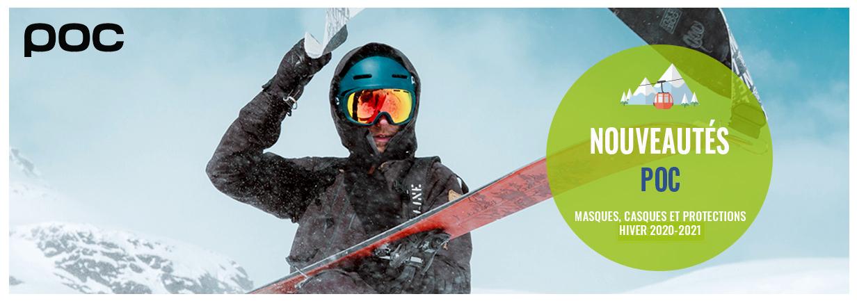 Découvrez les nouveaux casques et masques au design épuré de la marque POC !