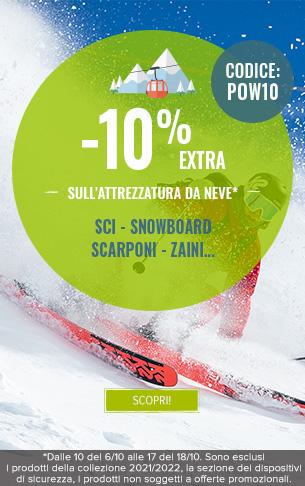 -10% extra su tutta la categoria Snow