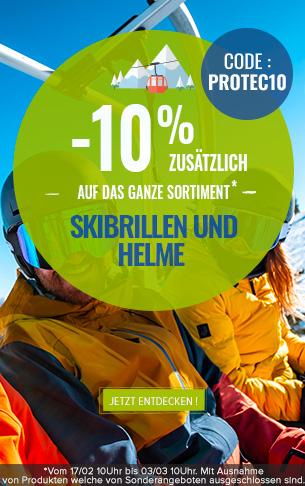 -10% zusätzlich auf Helme und Skibrillen