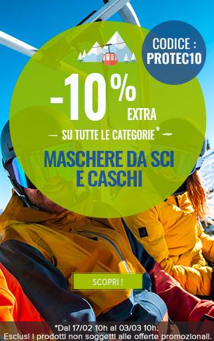 -10% Extra su tutte la categorie Maschere da sci e Caschi