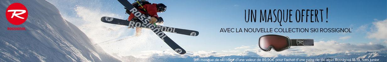 Un masque offert pour l'achat d'une paire de ski Rossignol!