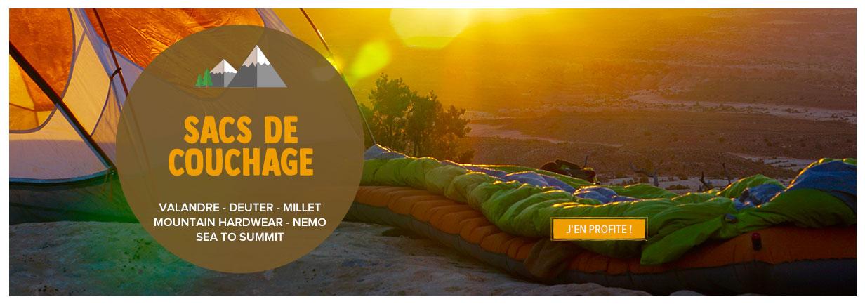 Découvrez notre rayon Sacs de couchage : Valandre, Deuter, Millet...