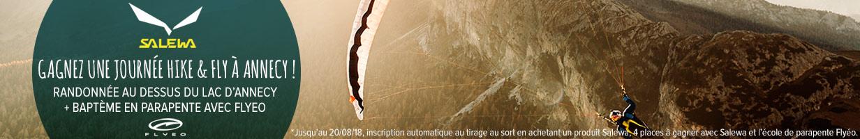 Salewa : gagnez une journée Hike & Fly à Annecy