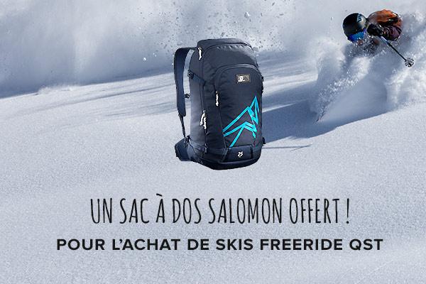Salomon: un sac à dos offert pour l'achat d'une paire de skis QST