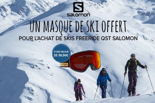Masque offert sur les skis QST Salomon