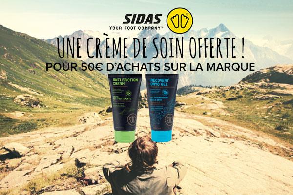 Une crème de soin offerte dès 50€ d'achats Sidas!