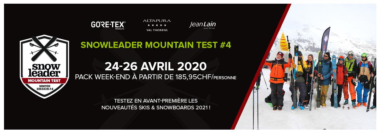 Réservez dès maintenant votre week-end pour la 4e édition du Snowleader Mountain Test !