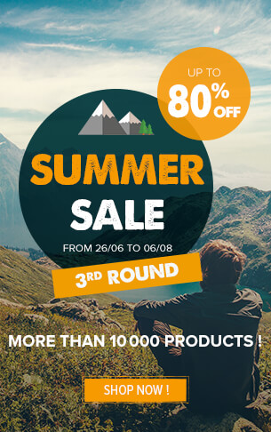 Come take advantage of Snowleader's summer sale: up to 80% off on a selection of over 10,000 products!