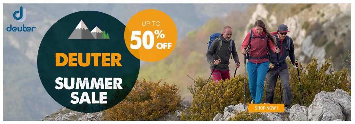 Summer sale Deuter up to 50% off