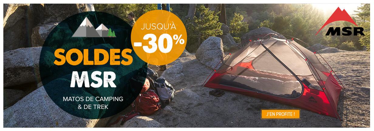 Soldes MSR, matos camping et trek, jusqu