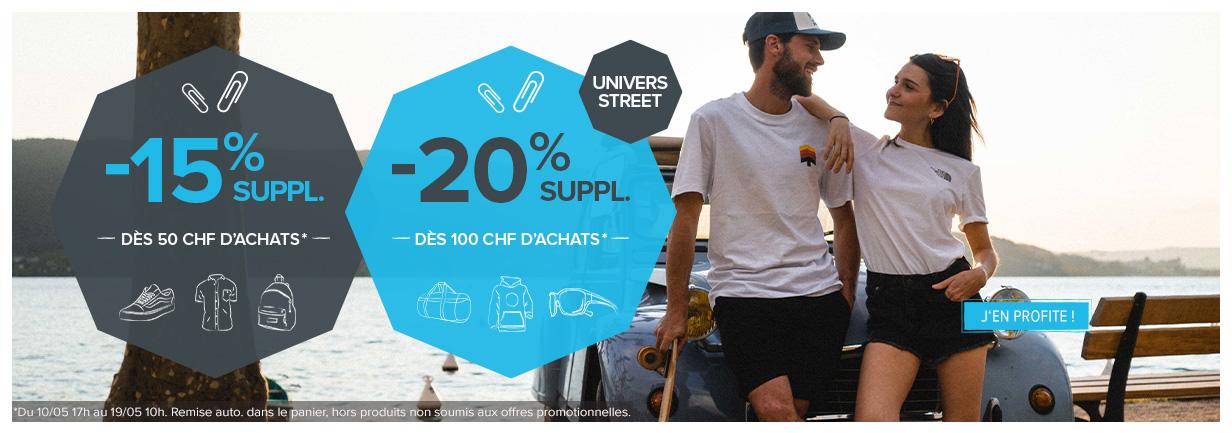 -15% supplémentaires dès 50 CHF d
