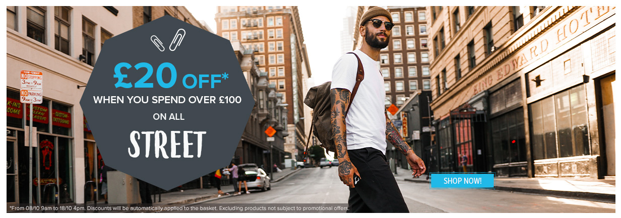 £20 off when you spend over £100 on all Street!