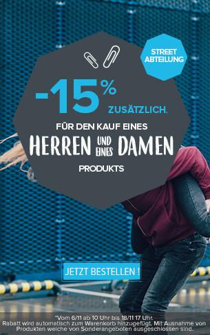 -15% zusätzlich Für den Kauf eines Herren- und eines Damenproduktes.