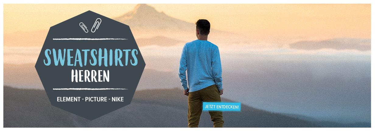 Entdecken Sie unseren Herren Sweatshirts : Element, Picture, Nike!