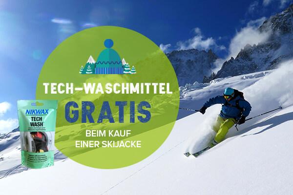 Tech-waschmittel gratis beim kauf einer Skijacke !