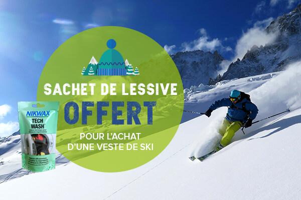 Un sachet de lessive offert pour l'achat d'une veste de ski!!