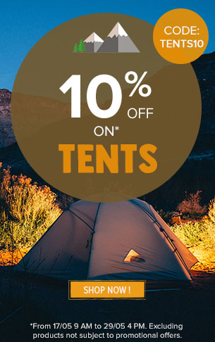 10% off on tents