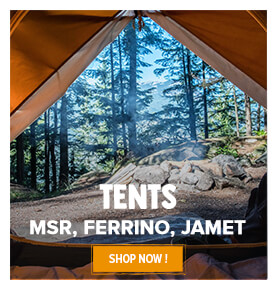The Snowleader tents selection!