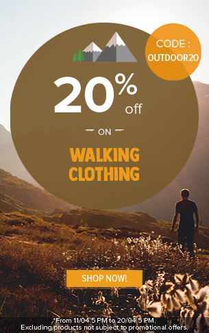 20% off on Walking Clothing!