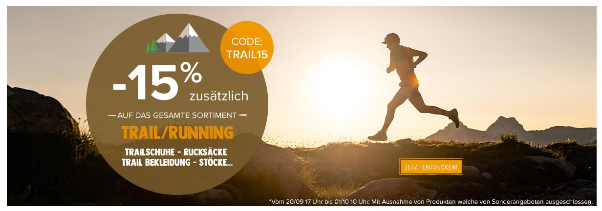 -15% zusätzlich auf trail running!