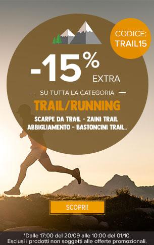 -15% extra su tutta la categoria trail running!