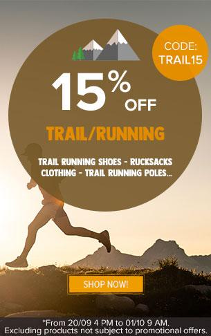 15% off trail running!