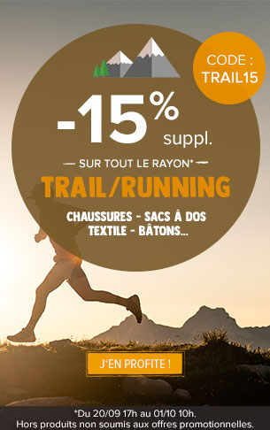 -15% supplémentaires sur le rayon trail running !