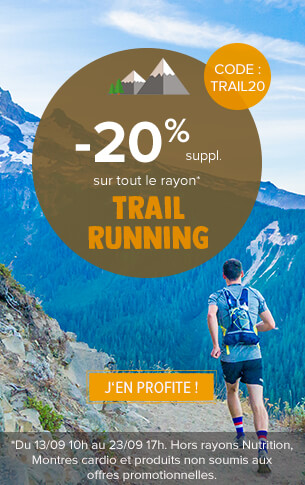 -20% suppl. sur tout le rayon Trail-Running !