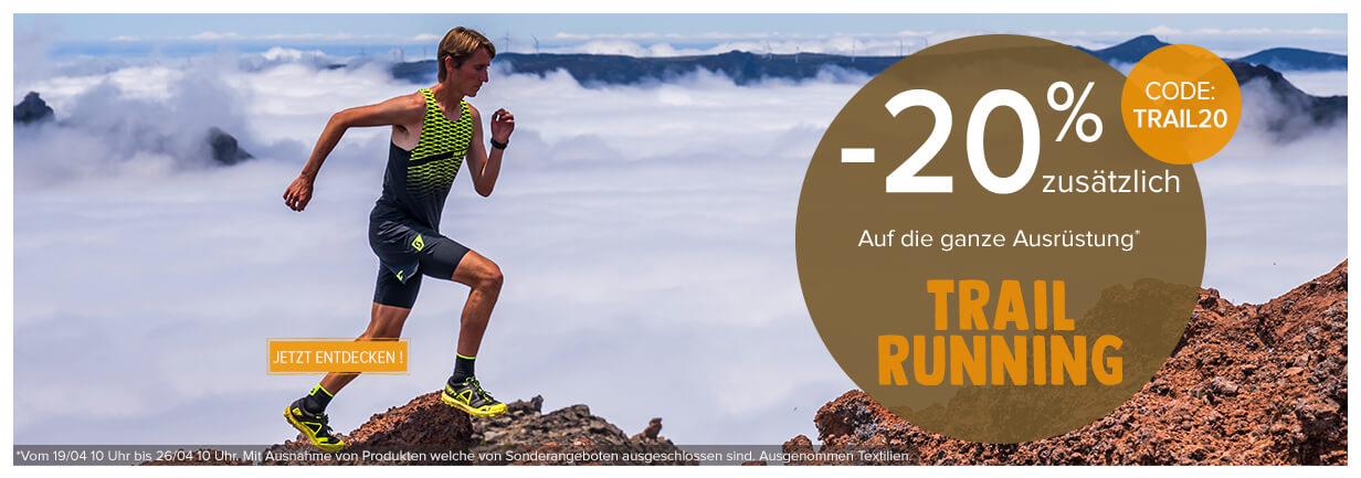 20% zusätzlich auf das ganze Sortiment trail running !