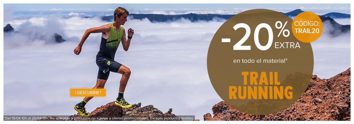 ¡ 20% extra en toda la sección trail running !