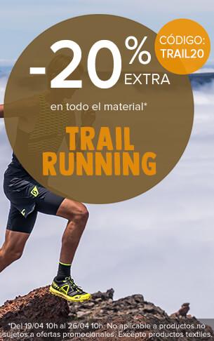 ¡20% zusätzlich auf das ganze Sortiment trail running !
