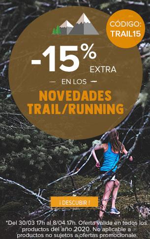 -15% extra en los novedades Trail/Running