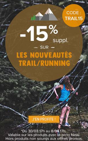 -15% supplémentaires sur les nouveautés Trail/Running