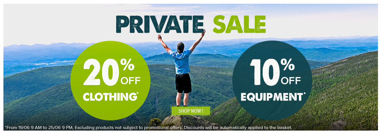 Snowleader private sale, 20% off on all clothing and 10% off on all equipment
