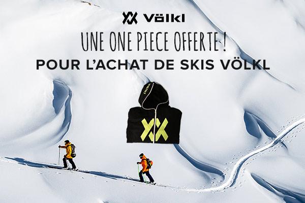 Une one piece offerte pour l'achat de skis Volkl 18-19!