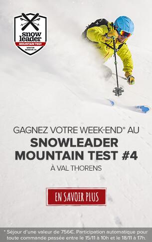 Gagnez un week-end pour 4 persones d'une valeur de 756€ au Snowleader Mountain Test !