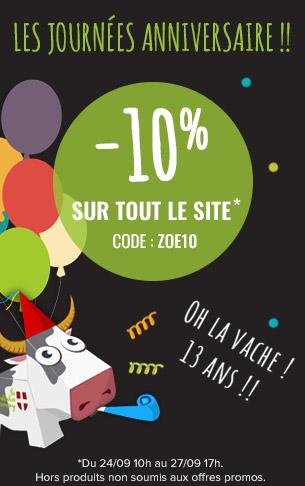 -10% sur tout le site !